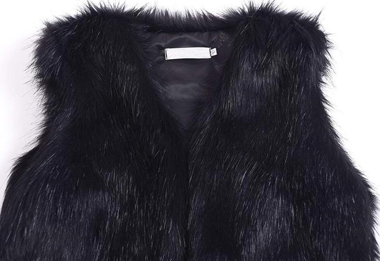 Youhan Women's Faux Fur Vest Coat Sleeveless Jacket