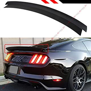 Cuztom Tuning Fits for 2015-2019 Ford Mustang S550 R Style Matt Black Highkick Trunk Lid Spoiler Wing