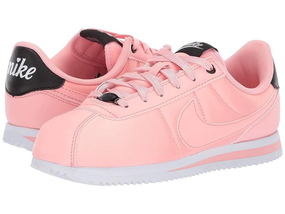 Nike Kids Cortez Basic TXT V-Day (Big Kid) (Bleached Coral/Bleached Coral/Black) Girls Shoes