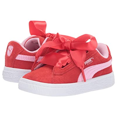 Puma Kids Suede Heart Radicals (Toddler) (Hibiscus/Pale Pink) Girls Shoes