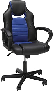 Essentials Gaming Chair - Racing Style Ergonomic Mesh and Leather Computer Chair, Blue