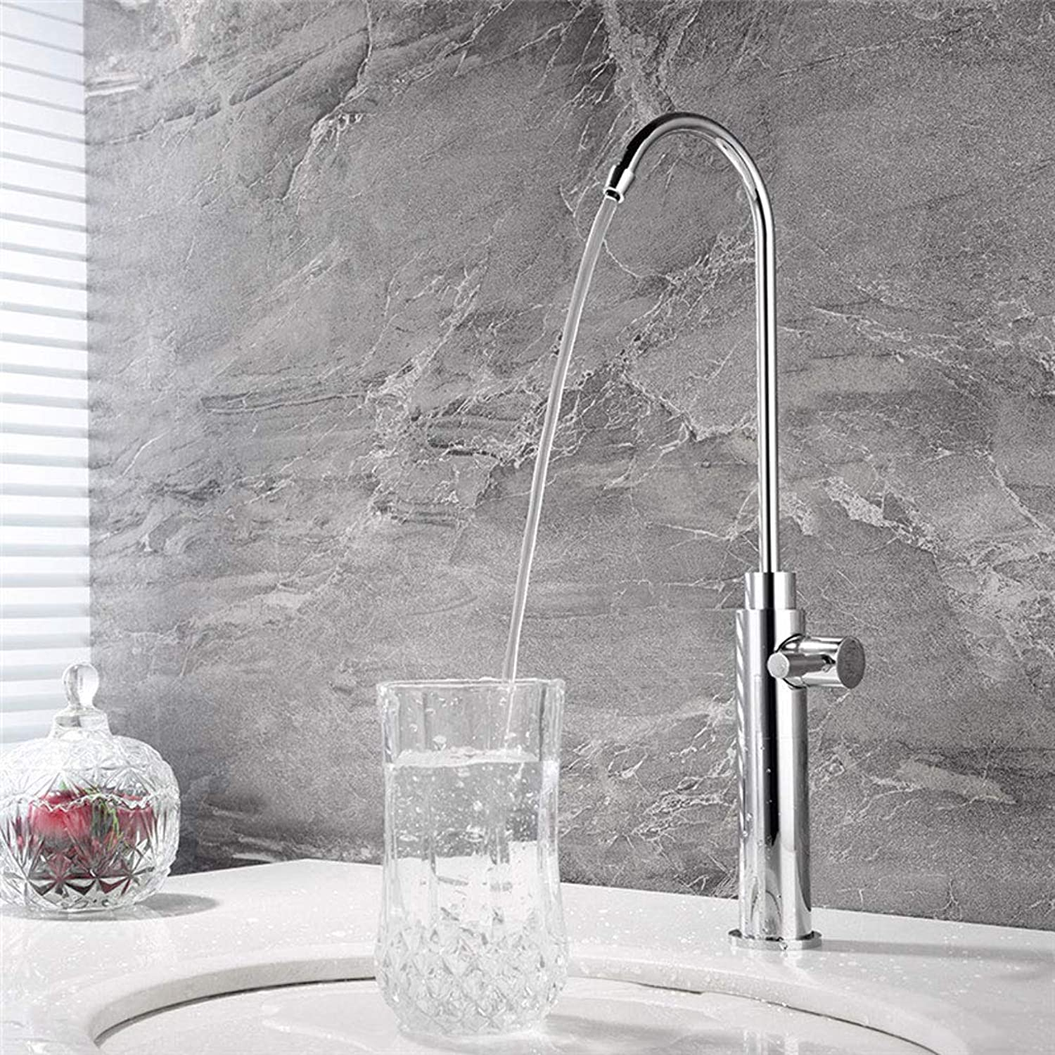 LXKY Drinking faucet - kitchen household copper single cold plus high water purifier faucet,C