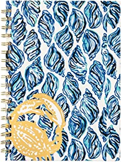 Lilly Pulitzer Women's Hard Cover Spiral Notebook, 9.75