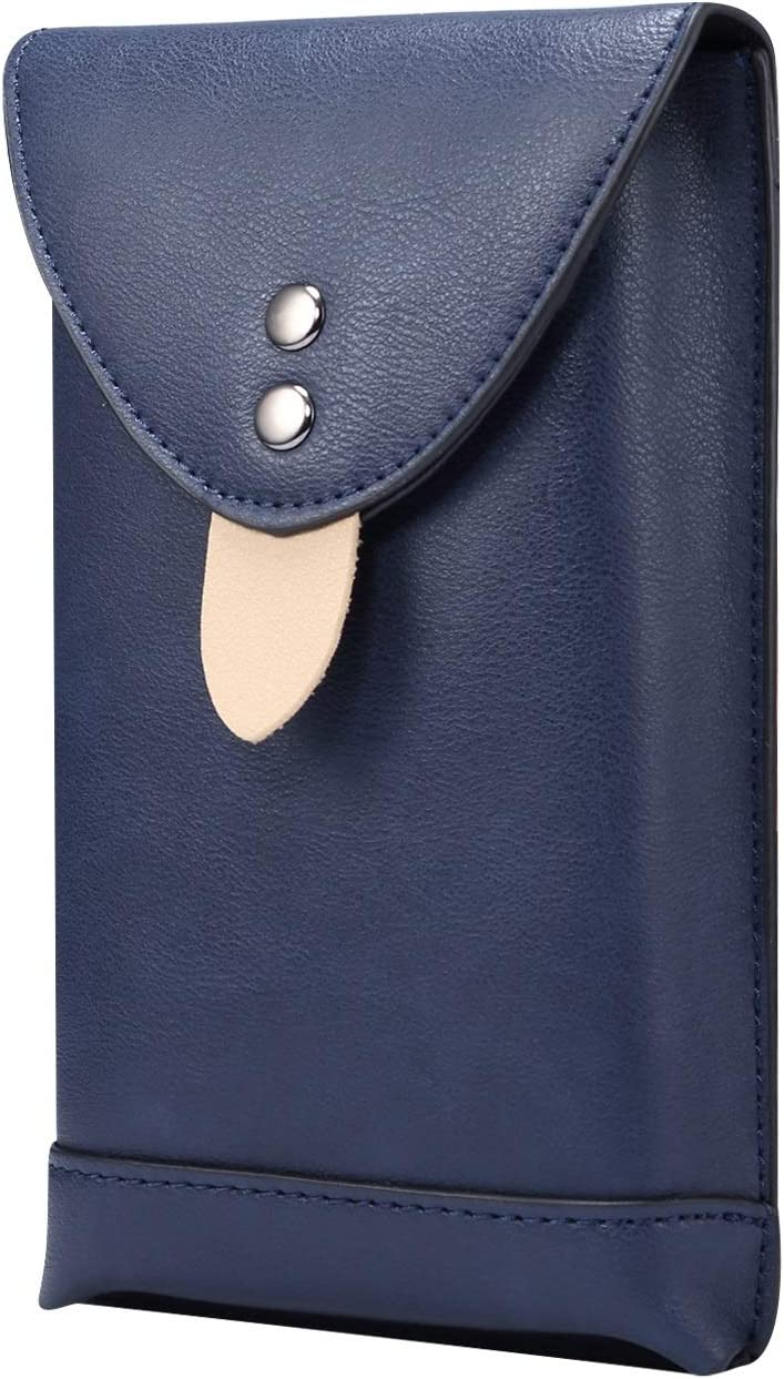 SZCINSEN Leather Cellphone Pouch Holster for Samsung Galaxy S20 Ultra, S21 Ultra 5G,S21+ 5G,A71 5G, Note 20 Ultra,Mens Waist Pack with Carabiner Clips for Travel (6.9 inch) (Color : Blue)