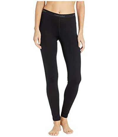 Icebreaker 200 Oasis Merino Base Layer Leggings (Black) Women