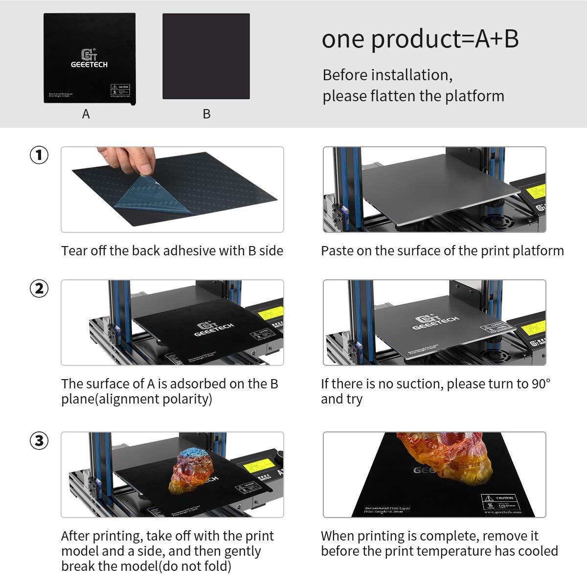 DERUC Impresora 3D placa magn/ética desmontable 3M adhesivo de doble cara A30 flexible