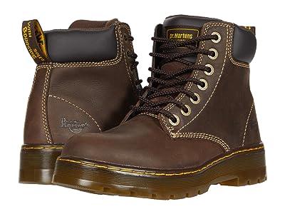 Dr. Martens Work Winch Service 7-Eye Boot (Dark Brown Wyoming) Men
