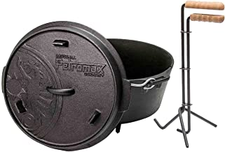 Petromax ft6 Feuertopf mit Füße Dutch Oven Set inkl. Profi Deckelheber Schmortopf