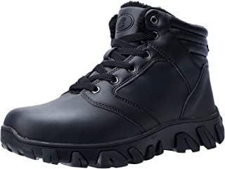 Mens Winter Boots Fur Lined Warm Outdoor Hiking Waterproof Snow Boots for Men