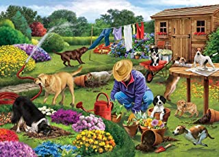 1000 Piece Landscape Jigsaw Puzzle- Garden Dogs Kids Toys Educational Puzzles Jigsaw