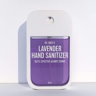 Dr. Bath's Lavender Hand Sanitizer - Made With Natural Essential Oil