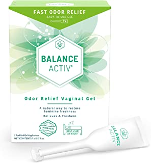 Balance Activ | Odor Relief Vaginal Gel for Women | Works Naturally to Rapidly Relieve Unpleasant Odor and Restore Feminine Freshness