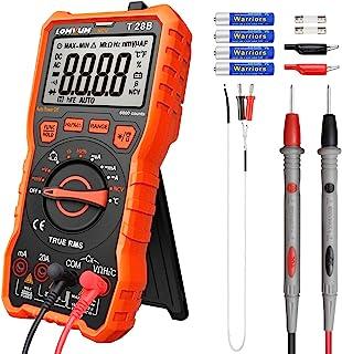 Lomvum Digital Multimeter, 6000 Counts Electrical Tester AC/DC Voltage Current Detector,..