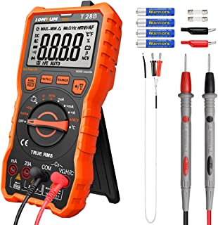 Lomvum Digital Multimeter, 6000 Counts Electrical Tester AC/DC Voltage Current Detector, NCV, Resistance, Capacitance, Diode Electronic, Duty Cycle Tester, (Auto Ranging Digital Multimeter)