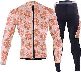 Vibrant Orange Vegetarian Men's Cycling Jersey Set Breathable Quick-Dry MTB Road Bike Luxury