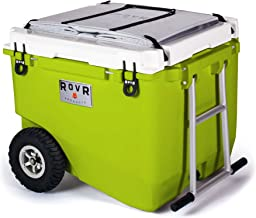 RovR Wheeled Camping Rolling Cooler with Wheels 80 qt (Moss)