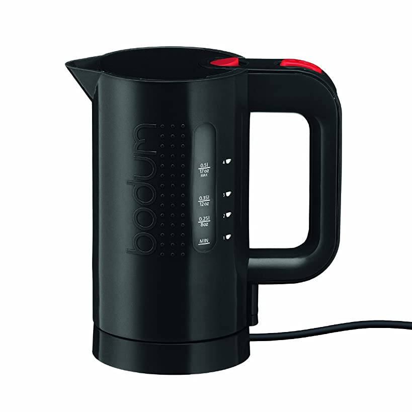 Bodum Bistro Electric Water Kettle, Plastic, 17 Ounce, .5 Liter, Black