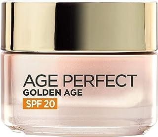 LOréal Paris Age Perfect Golden Age Crema de Día Fortificante con Protección Solar SPF 20 Antiflacidez y Luminosidad Pi...