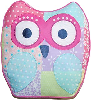 Cozy Line Pink Owl 2 Pcs Quilt Set for Kids/Girls Bedding (Owl, Twin - 2 Piece) (Color Owl, Decor Pillow - 1 pc)