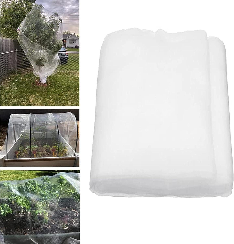 Garden Netting Pest Barrier, Plant Netting Fine Mesh Cover, Cicada Netting for Trees, Bird Netting for Chicken Coop, 33' x 10' White