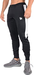 YoungLA Track Joggers for Men | Slim Fit Tapered Sweatpants | Workout Gym | Zipper Pockets Side Mesh 215