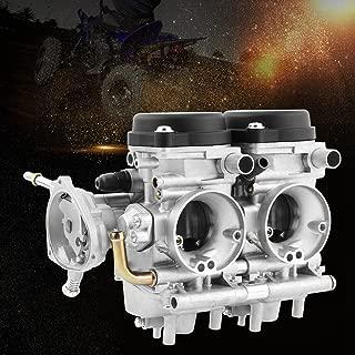 Qiilu Motorcycle Carburetor, High Performance Carburetor Carb Kit with Installing Parts Fit for Yamaha Raptor 660 2000-2005 ATV Quad Carb