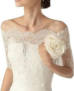 Women's Lace Off Shoulder Half Sleeve Bolero Jacket Wedding Bridal Wraps WJ37