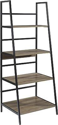 OSP Home Furnishings Braydon Ladder Bookcase, Grey Oak