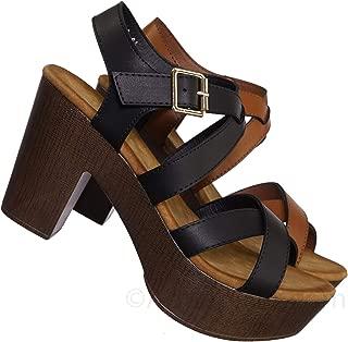 Aquapillar Clog Block Heel Platform Sandal-Lightweight Open Toe Comfort Sandal