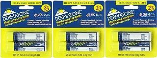 Dermatone Medicated Lip Balm SPF 23,0.15-Ounce, 6 Count