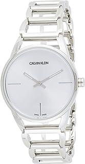 Calvin Klein Women's Quartz Watch ck Stately K3G23126 with Metal Strap