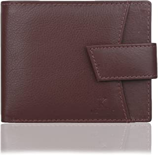 K London Slim Card Coin Pocket Men's Wallet Burgundy (5008_Burgundy)