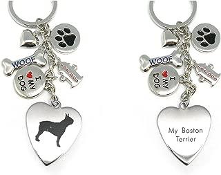 Keychain for Women,Girls,Boys,Men-Engraved Stainless Steel Dog Key Ring