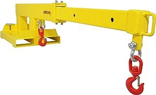 Titan Attachments Forklift Mobile Crane Lifting Hoist Truss Jib Boom 2 Hooks 5500 lb Capacity Fork Mounted