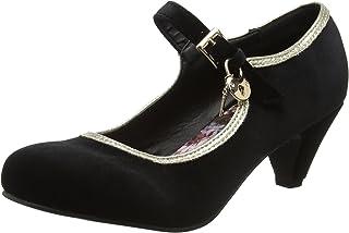 Joe Browns Key to My Heart Velvet Shoes, Escarpins Bride Cheville Femme