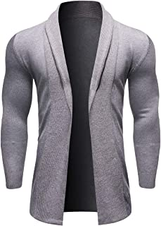 Mens Knitted Cardigan Thick Sweater Shawl Collar Warm Jumper Fleece Lined Winter Coat Outerwear