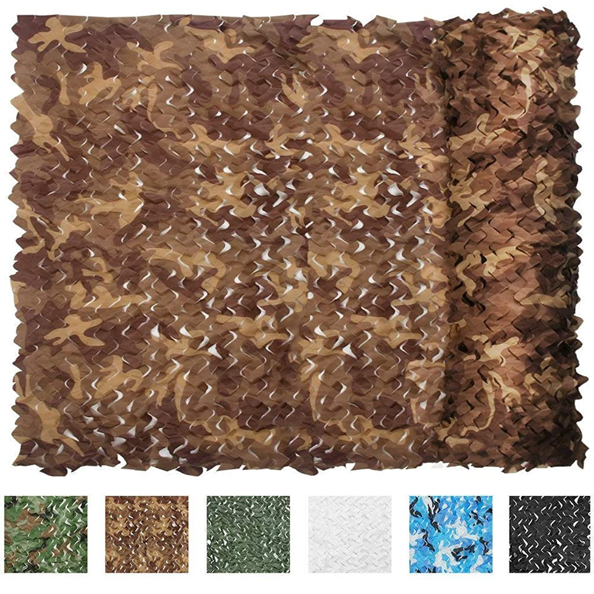 LNM Camouflage Net Desert Woodland Jungle 210D Camo Netting Durable Waterproof for CS Camping Military Hunting Shooting Sun Shade Blind Watching Hide Party Decorations