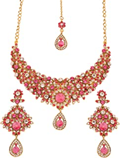 Touchstone Hollywood Glamour Grand Wedding Evening wear Jewelry Necklace for Women