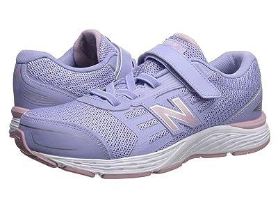 New Balance Kids 680v5 Hook and Loop (Little Kid/Big Kid) (Clear Amethyst/Oxygen Pink) Girls Shoes