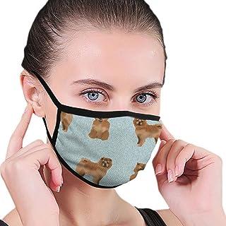 N/W Chow Chow hund svart kant dammsäker munskydd, elastisk och bekväm, vindtät ansiktsmask, utomhusskydd mun och näsa