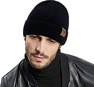 Beanie Hat for Men Winter Warm Knit Hats Slouchy Thick Beanie Skull Cap Thick