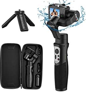 3-Axis Gimbal Stabilizer for GoPro 8 Action Camera Handheld Gimbal Tripod Mount Splash-Proof Wireless Control for Gopro He...