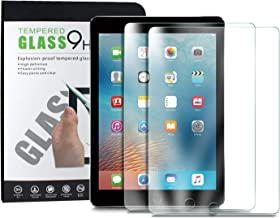 TERSELY [2 Pack] Tempered Glass Screen Protector for Apple iPad 9.7-inch (2018/2017 Model, 6th / 5th), iPad Air 1, iPad Air 2, iPad Pro 9.7 2.5D Round Edge Screen Saver Guard Protector