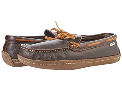 L.L.Bean Hand Sewn Slippers Flannel-Lined
