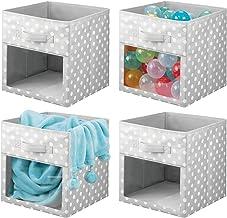 mDesign boîte de rangement (lot de 4) – caisse de rangement en tissu pour les affaires d'enfants, couvertures, etc. – bac ...