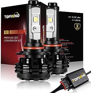 TOPINNO LED Headlight Bulbs Conversion Kit, Extremely Bright CREE XHP50 10000LM, 9006(HB4) - 6000K Xenon White Headlight Assembly