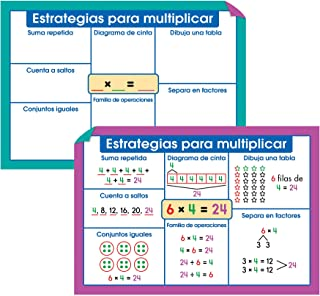 Carson Dellosa Multiplicacion Instructional Set—Reference Chart, Multiplication Charts With Multiplication Facts Through 1...