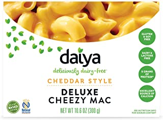 Daiya Cheezy Mac, Cheddar Style :: Rich & Creamy Plant-Based Mac & Cheese :: Deliciously Dairy Free, Vegan, Gluten Free, Soy Free :: Whole Grain Gluten Free Noodles, 10.6 Oz. Box (4 Pack)