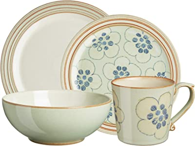 Denby Heritage Orchard Mix & Match 4 pc Dinnerware Set, One size, green