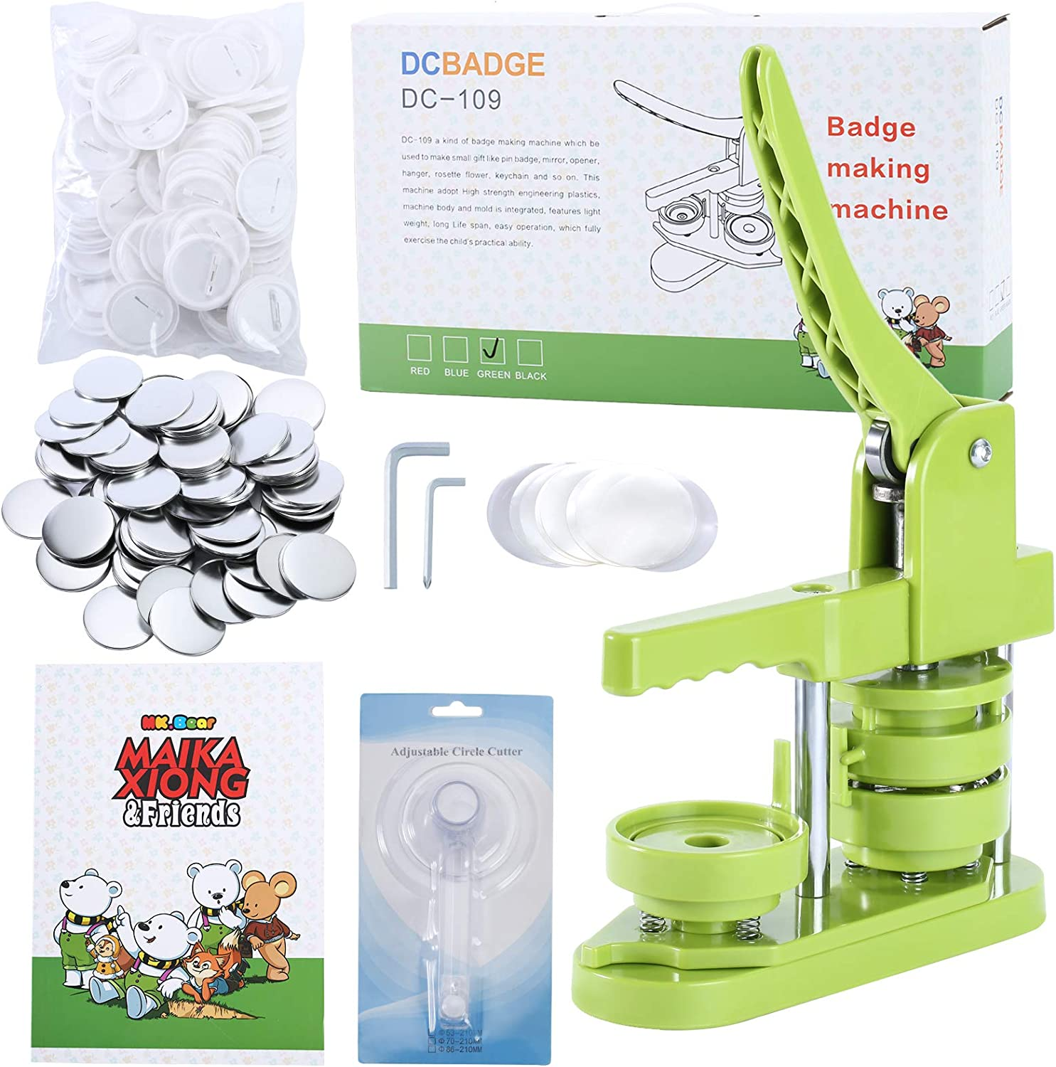 Ultra-Cheap Deals MK.Bear Installation-Free Directly managed store Button Badge Machine 2¼ Maker 58mm